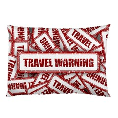 Travel Warning Shield Stamp Pillow Case (two Sides)