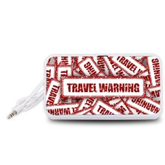 Travel Warning Shield Stamp Portable Speaker (white)