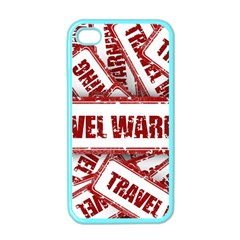 Travel Warning Shield Stamp Apple Iphone 4 Case (color)