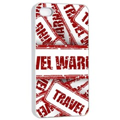 Travel Warning Shield Stamp Apple Iphone 4/4s Seamless Case (white)