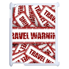 Travel Warning Shield Stamp Apple Ipad 2 Case (white)