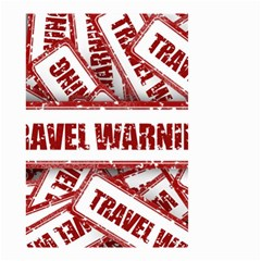 Travel Warning Shield Stamp Small Garden Flag (two Sides)