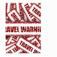 Travel Warning Shield Stamp Large Garden Flag (two Sides)