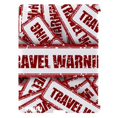 Travel Warning Shield Stamp Apple Ipad 3/4 Hardshell Case (compatible With Smart Cover)