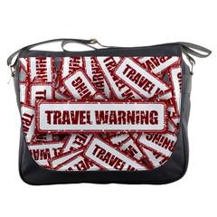 Travel Warning Shield Stamp Messenger Bags