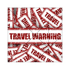 Travel Warning Shield Stamp Acrylic Tangram Puzzle (6  X 6 )