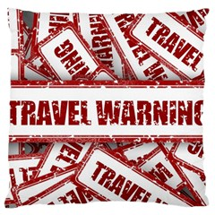 Travel Warning Shield Stamp Large Cushion Case (one Side)