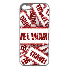 Travel Warning Shield Stamp Apple Iphone 5 Case (silver)