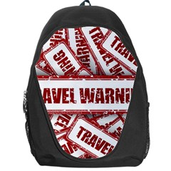 Travel Warning Shield Stamp Backpack Bag