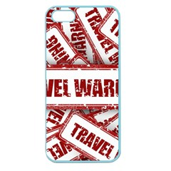 Travel Warning Shield Stamp Apple Seamless Iphone 5 Case (color)