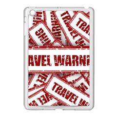 Travel Warning Shield Stamp Apple Ipad Mini Case (white)
