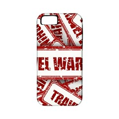 Travel Warning Shield Stamp Apple Iphone 5 Classic Hardshell Case (pc+silicone)