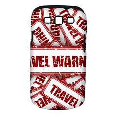 Travel Warning Shield Stamp Samsung Galaxy S Iii Classic Hardshell Case (pc+silicone)