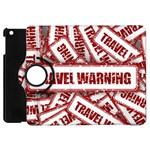 Travel Warning Shield Stamp Apple iPad Mini Flip 360 Case Front