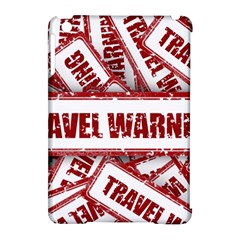 Travel Warning Shield Stamp Apple Ipad Mini Hardshell Case (compatible With Smart Cover)