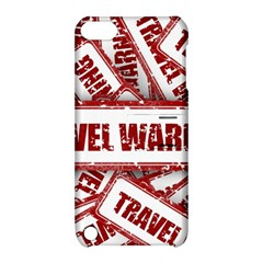 Travel Warning Shield Stamp Apple Ipod Touch 5 Hardshell Case With Stand