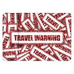 Travel Warning Shield Stamp Samsung Galaxy Tab 8 9  P7300 Flip Case