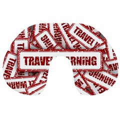 Travel Warning Shield Stamp Travel Neck Pillows