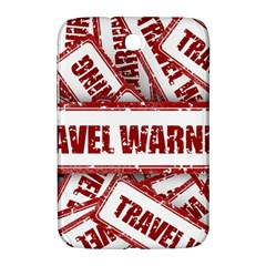 Travel Warning Shield Stamp Samsung Galaxy Note 8 0 N5100 Hardshell Case