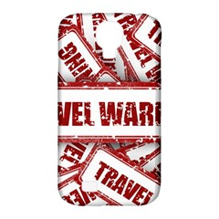 Travel Warning Shield Stamp Samsung Galaxy S4 Classic Hardshell Case (pc+silicone)