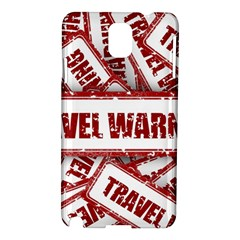 Travel Warning Shield Stamp Samsung Galaxy Note 3 N9005 Hardshell Case