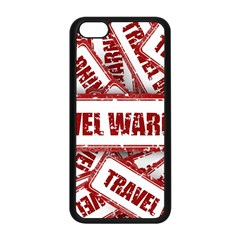 Travel Warning Shield Stamp Apple Iphone 5c Seamless Case (black)
