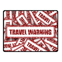 Travel Warning Shield Stamp Double Sided Fleece Blanket (small)
