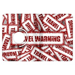 Travel Warning Shield Stamp Kindle Fire Hdx Flip 360 Case