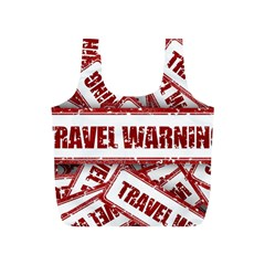 Travel Warning Shield Stamp Full Print Recycle Bags (s)