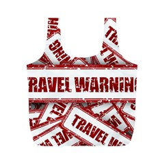 Travel Warning Shield Stamp Full Print Recycle Bags (m)