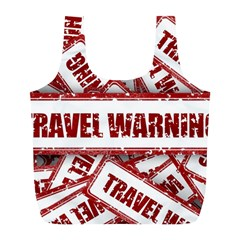 Travel Warning Shield Stamp Full Print Recycle Bags (l)