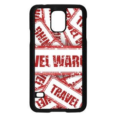 Travel Warning Shield Stamp Samsung Galaxy S5 Case (black)