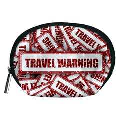 Travel Warning Shield Stamp Accessory Pouches (medium)