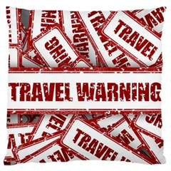 Travel Warning Shield Stamp Large Flano Cushion Case (two Sides)