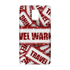 Travel Warning Shield Stamp Samsung Galaxy Note 4 Hardshell Case