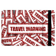 Travel Warning Shield Stamp Ipad Air 2 Flip