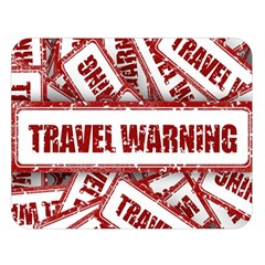 Travel Warning Shield Stamp Double Sided Flano Blanket (large)