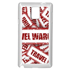 Travel Warning Shield Stamp Samsung Galaxy Note 4 Case (white)