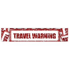 Travel Warning Shield Stamp Flano Scarf (small)
