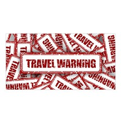 Travel Warning Shield Stamp Satin Shawl