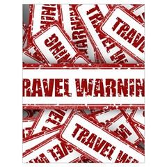 Travel Warning Shield Stamp Drawstring Bag (large)