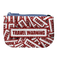 Travel Warning Shield Stamp Large Coin Purse