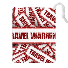 Travel Warning Shield Stamp Drawstring Pouches (xxl)