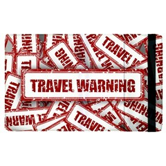 Travel Warning Shield Stamp Apple Ipad Pro 9 7   Flip Case
