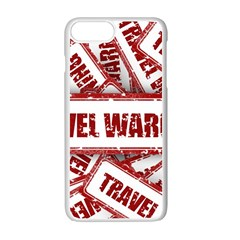Travel Warning Shield Stamp Apple Iphone 7 Plus White Seamless Case
