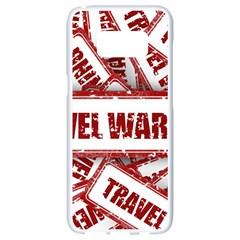 Travel Warning Shield Stamp Samsung Galaxy S8 White Seamless Case