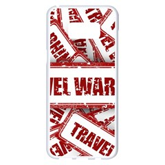 Travel Warning Shield Stamp Samsung Galaxy S8 Plus White Seamless Case
