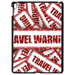 Travel Warning Shield Stamp Apple Ipad Pro 9 7   Black Seamless Case