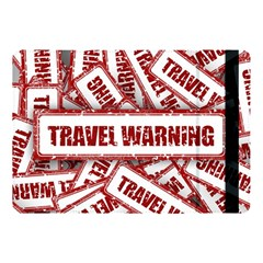 Travel Warning Shield Stamp Apple Ipad Pro 10 5   Flip Case