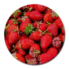 Strawberries Berries Fruit Round Mousepads